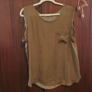 Loft XL green sleeveless blouse